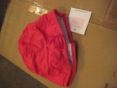JANIE AND JACK    Girls Size  6 -12 MONTHS     RED   Swimming  CAP     NWT