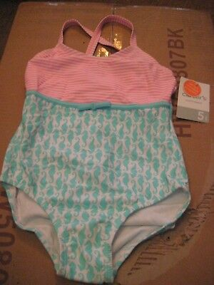 Carter's    Girls  Size  5    Swimsuit Seahorses    New