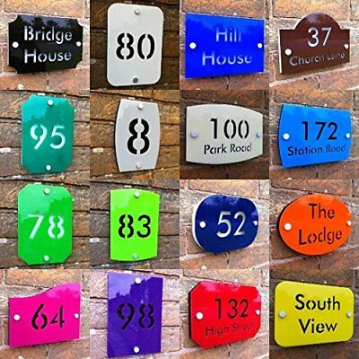 Custom Sign Plaque Engraved Street Name Number 2 layer color Acrylic in 3 sizes