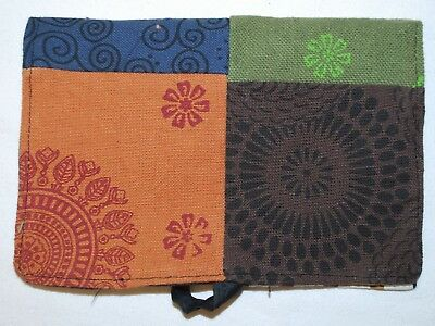 New Fair Trade Tobacco Pouch - Cotton Hippy Ethical Boho Smoking Ethnic Hippie