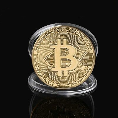 Bitcoin 24k Gold Plated | Physical Bitcoin In Protective Acrylic Case US