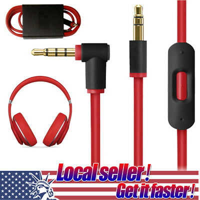 3.5mm Replacement Audio Cable L Cord For Beats By Dr Dre Headphones Aux With Mic