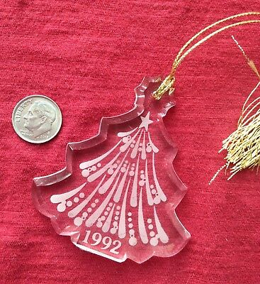 Lenox Ornament 1992 Crystal Christmas Tree A-013-5732 MINT In Box 2.75""