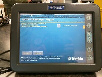 Trimble FMD display with autopilot unlock