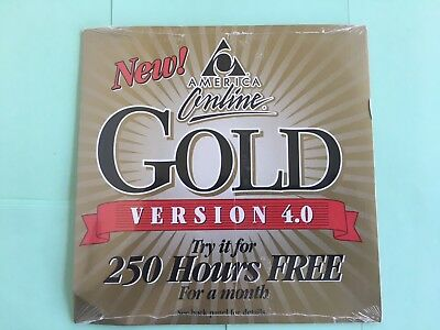 Collector's CD AOL 4.0 America Online 250 Hours Free Sealed