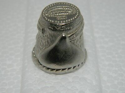 Hershey's Kisses Pewter Thimble 1981 Collectible advertising Choclate Kiss (A28)