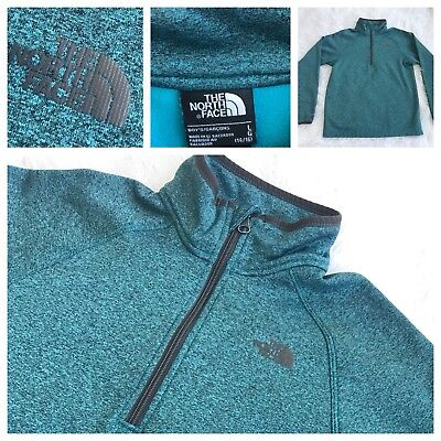 THE NORTH FACE 1/4 Zip Pullover Soft Fleece Jacket Boy's Size Large 14-16 EUC