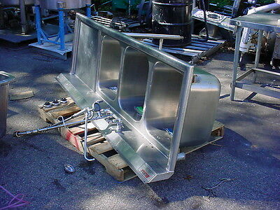 """3 Bay Stainless Steel Sink 80"""" Long"""