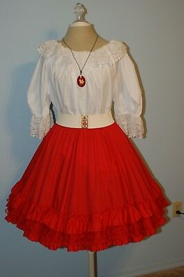 Square Dance Outfit - Two Piece with Belt and Necklace