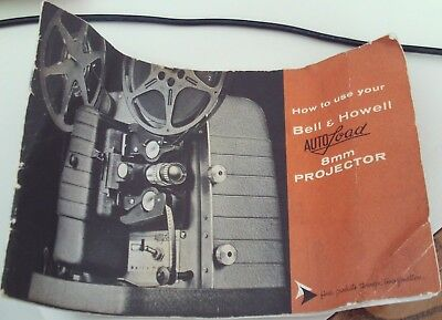 Vintage Bell & Howell Autoload 8 mm Projector Instruction Manual