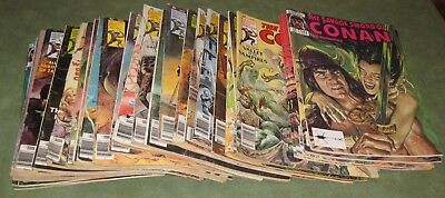 Lot of 29 The Savage Sword Of Conan The Barbarian Magazines