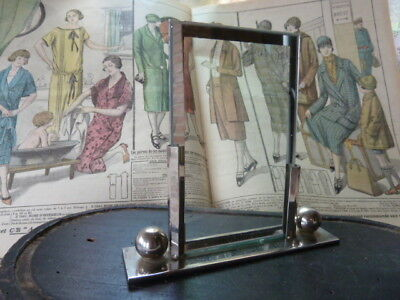 Superb French Art Deco Chrome Photo Frame For 1930's Period Display