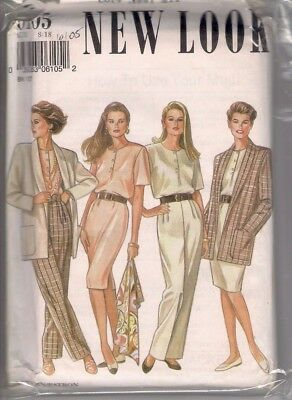Sewing Pattern, Vintage New Look 6105 Ladie's Suit, Sizes 8 to 18, UNCUT