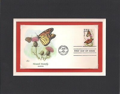 Monarch Butterfly - Frameable Postage Stamp Art - 0571