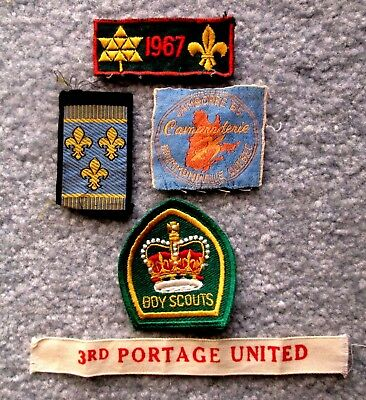 Boy Scouts of Canada Lot of 5 1960s Miscellaneous Patches meau15
