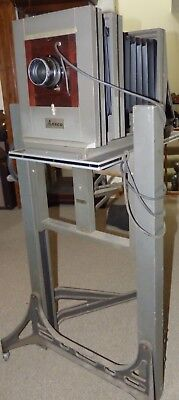 Vintage Ansco Wood Large Format 8x10 Commercial Camera On Ansco Stand