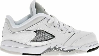 6e8dcdce117db2 Nike Toddlers  Jordan 5 Retro Low GT Shoes NEW AUTHENTIC White Grey 819174-
