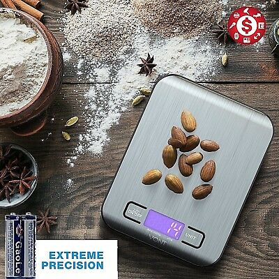 Digital Kitchen Scale Stainless Steel Glass Food Postal 11lbx0.04oz 22lb Cooking