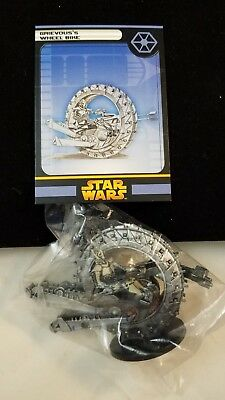 Star Wars Miniatures ROTS figure 33/60 Grievous'sWheelBike VE RARE sealed w/card