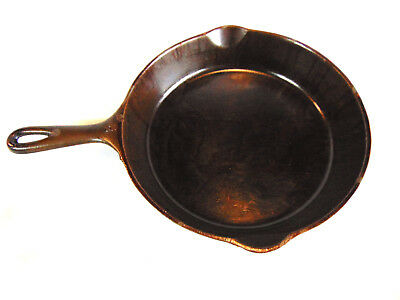 WAGNER WARE SIDNEY -O- MARKED VINTAGE No. 8 1058 R CAST IRON 10 INCH USA SKILLET