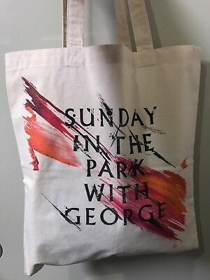 """""""Sunday In The Park With George"""" -Broadway Souvenir Tote Bag (Brand New)"""