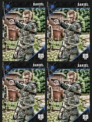 4x DANIEL-BLUE-POINT OF IMPACT-TOPPS WALKING DEAD CARD TRADER DIGITAL
