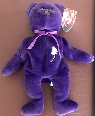 Ty Beanie Baby ~ PRINCESS the (Diana) Bear from 1997, RARE & RETIRED, ERRORS