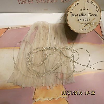 4 Yards Vintage Made In Japan  Metallic  Cording 2 Ply Antique Dolls