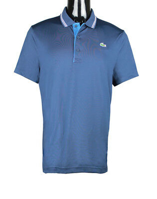 b67c3e21 Lacoste men's golf polo sport lettering stretch technical jersey Navy xl  DH3360