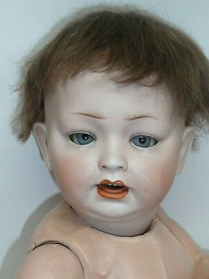 "Beautiful 16.5"" Antique LWC 152 German Bisque Baby, Perfect Head, As Found"