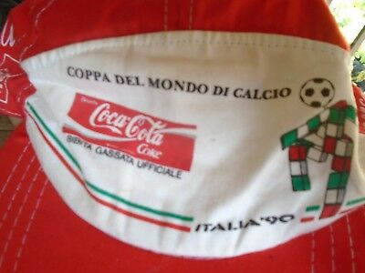 1990 Fifa World Cup Extra Rare Unisex Coca Cola Hat New Old Stock