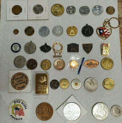 LOT OF 40 Tokens - Variety of Arcade, Car Wash, & Many More! Some Rare.
