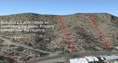 Seller Financing:2.51 Acre View Lot in Queen Valley, AZ: Build or Mobile Home.