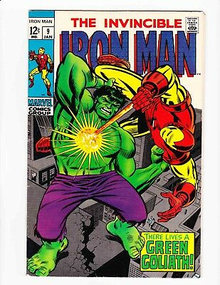 The Invincible IRON MAN Jan 69 GREEN GOLIATH - Condition 8.0 VF