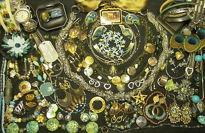 Mixed Vintage - Now Costume Jewelry Lot  69 pc all wear or resale   JL - 24