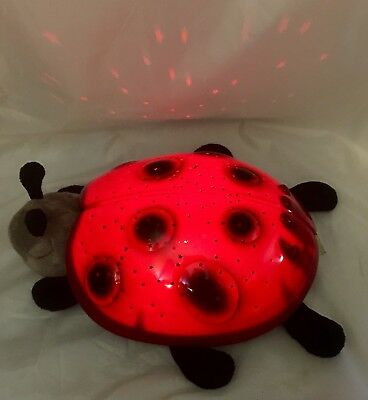 Cloud B Ladybug Constellation Night Light, Red & Black EUC