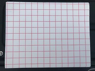 Heat Transfer Paper (Light Colored T-Shirt/ Red Grid) 8-1/2x11 (10 Sheets)
