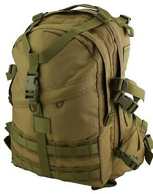 Tas Khaki Military Recon Molle Backpack 40Lt #free 2Lt Wide Mouth Bladder