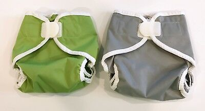 2 Thirsties Sized Diaper Covers | Size Large | Hook & Loop