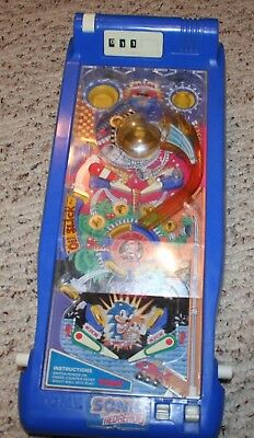 Vintage Sonic The Hedgehog Pinball Machine Tomy 1992 Sega Table Toy Arcade Game