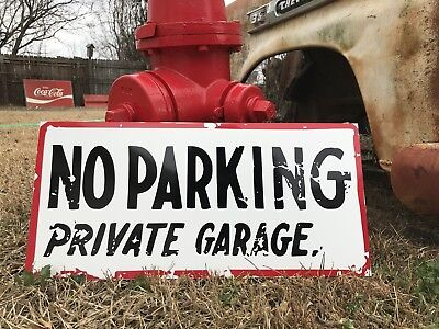 Antique Vintage Old Style No Parking Sign