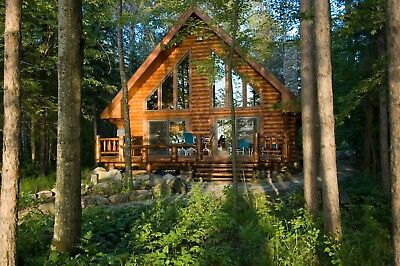 Hayward Wisconsin Log home for rent on Lake Chippewa ***Famous for it's Fishing