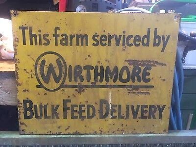 Wirthmore Feeds - Vintage Farm Sign - Original Poultry Dairy Stock