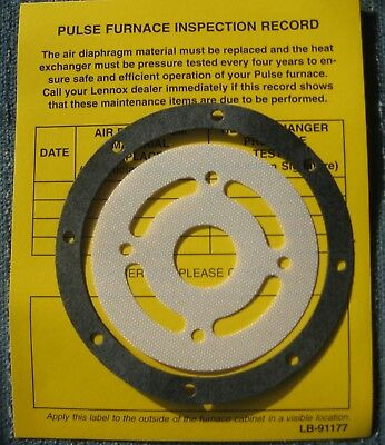 Lennox Pulse 64L80 Diaphragm for G14/21-40/60/80 Flapper Valve +Flapper gasket