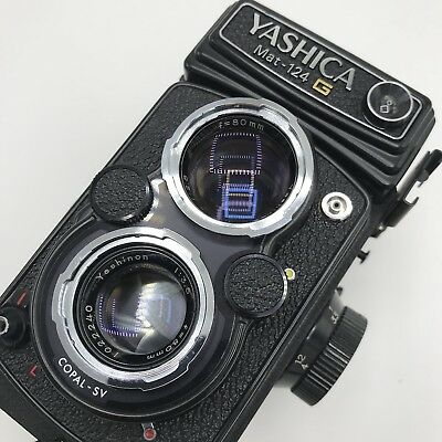 Yashica Mat-124 G Camera film as is. with case