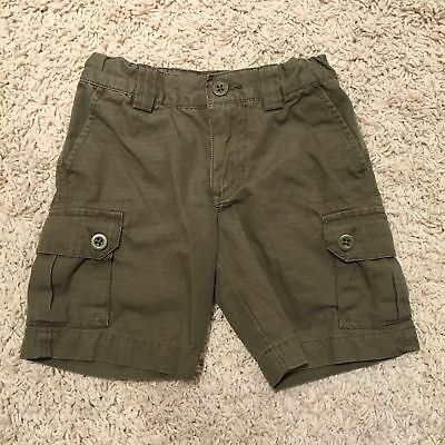 POLO RALPH LAUREN Boys Size 4/4T Shorts Classic Cargo Green Solid Toddler Kids