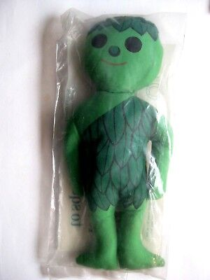 Vintage Jolly Green Giant Plush Doll   1969   sealed in original package