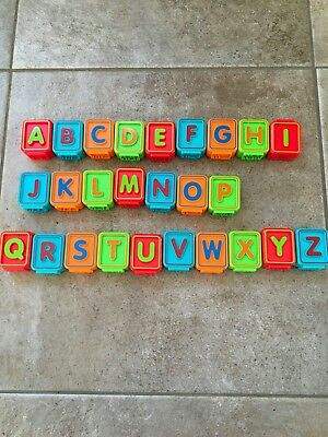 used vtech replacement alphabet block letters and pictures