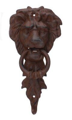 Large Iron Lion Head Doorknocker MGS