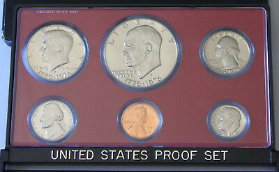 United States Proof Set *1975* - Usa 6 Proof Coin Set -Original Box-
